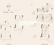 中御公馆E1-国賓130㎡复式高层户型图